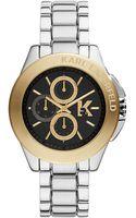 Karl Lagerfeld Twotone Stainless Steel Round Watch - Lyst