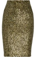 Alice + Olivia Bryce Sequined Pencil Skirt - Lyst
