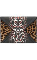 McQ by Alexander McQueen Leopard Envelope Clutch - Lyst
