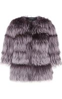 Lilly E Violetta Tiered Fox Fur Jacket - Lyst