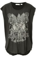 Sass & Bide Cotton Printed Sleeveless T-shirt - Lyst