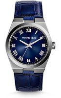 Michael Kors Channing Crocodileembossed Leather Watch - Lyst