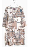 Violeta By Mango Leather Belt Dress - Lyst