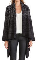 Twelfth Street Cynthia Vincent Ikat Drape Sweater Jacket - Lyst