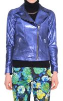 P.a.r.o.s.h. Maralux Leather Biker Jacket - Lyst