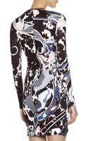 Emilio Pucci Appaloosaprint Longsleeve Dress with Chain Detail - Lyst