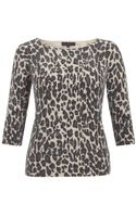Great Plains Leopard Print Sweater - Lyst