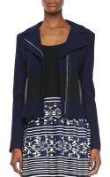 Nanette Lepore West Coat Twotone Jacquard Jacket - Lyst