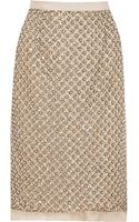 Oscar de la Renta Embellished Silk-organza Skirt - Lyst
