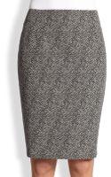 Max Mara Tweed Pencil Skirt - Lyst