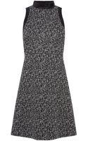 Karen Millen Texture Shift Dress - Lyst