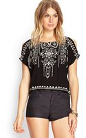 Forever 21 Tribal Print Woven Top - Lyst