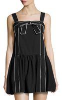 RED Valentino Sleeveless Bow Crepe Dress - Lyst