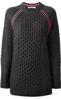T By Alexander Wang Cable Knit Sweater - Lyst
