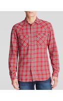 Diesel Western Flannel Sport Shirt Slim Fit - Lyst