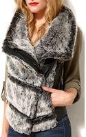 Akira Black Label Faux Fur Pleather Vest - Lyst