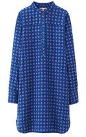 Uniqlo Women Flannel Printed Long Sleeve Shirt Dress - Lyst