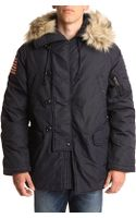 Denim & Supply Ralph Lauren Snorkel Navy Parka - Lyst