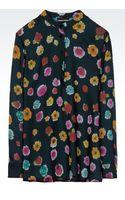 Emporio Armani Floral Silk Shirt - Lyst