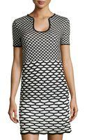 M Missoni Short-sleeve Sweater Dress W Scale Print - Lyst