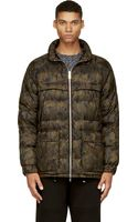 Moncler Gamme Rouge Green and Orange Quilted Nylon Jacket - Lyst
