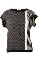 Bouchra Jarrar Mixed Print Sweater - Lyst