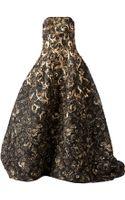 Oscar de la Renta Floral Brocade Evening Gown - Lyst