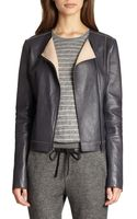 Vince Bonded Leather Jacket - Lyst
