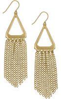 Sam Edelman Goldtone Fringe Drop Earrings - Lyst