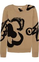 Burberry Brit Intarsia Wool and Cashmere-blend Sweater - Lyst