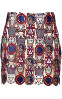 Mary Katrantzou Poppycon Lace Miniskirt - Lyst