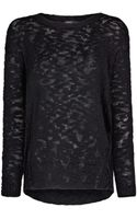 Mango Slub Cottonblend Sweater - Lyst