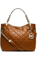 MICHAEL Michael Kors Susanna Quilted Leather Medium Tote Bag - Lyst