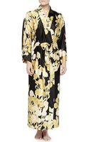 Natori Irina Floral-print Long Robe - Lyst