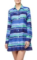Tommy Bahama Waveprint Boyfriend Shirt Coverup - Lyst