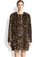 Nina Ricci Fauxfur Leopardprint Coat - Lyst