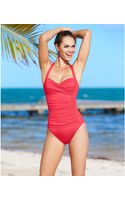 La Blanca Ruched Over The Shoulder Onepiece Swimsuit - Lyst