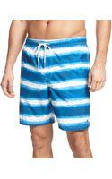 Tommy Hilfiger Ocean Stripe Swim Trunks - Lyst