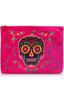 Charlotte Olympia Fiesta Pink Dead Nice Pouch Wembroidery  Crystal Detail - Lyst