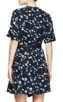 Proenza Schouler Printed Belted Half-sleeve Dress - Lyst