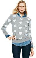 C. Wonder Hearts Intarsia Crewneck Sweater - Lyst