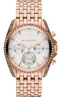 Michael Kors Womens Chronograph Pressley Rose Goldtone Stainless Steel Bracelet 39mm - Lyst