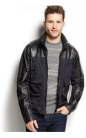 Michael Kors Leather Combo Bomber Jacket - Lyst