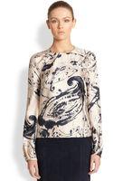 Carolina Herrera Silk Twill Paisley Print Blouse - Lyst