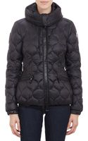 Moncler Honey Comb Pattern Quilted Hooded Gres Jacket - Lyst