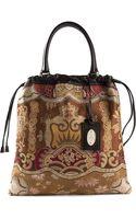 Etro Embroidered Drawstring Shoppper Bag - Lyst