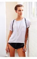Truly Madly Deeply Vintagewashed Cropped Tee - Lyst