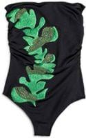 Cynthia Rowley One Piece with Leaf Embroidery - Lyst