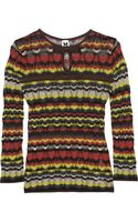 M Missoni Bowembellished Crochetknit Top - Lyst
