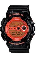 G-shock Casio Mens Orange Dial Digital Watch - Lyst